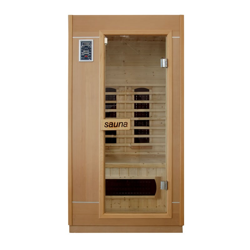 Sauna infrarouge ankara 2 3 places bain et confort - Sauna infrarouge 3 places ...
