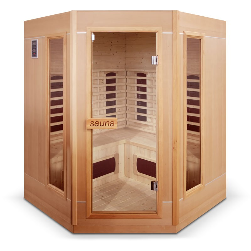 Sauna infrarouge ethis 3 4 places bain et confort - Sauna infrarouge 4 places ...