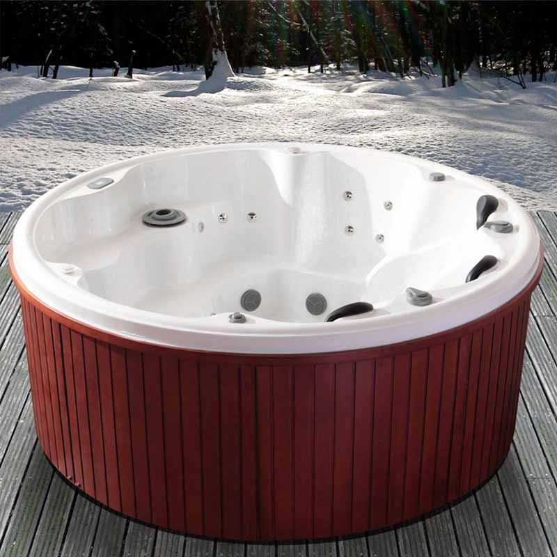 jacuzzi exterieur rond maison design. Black Bedroom Furniture Sets. Home Design Ideas