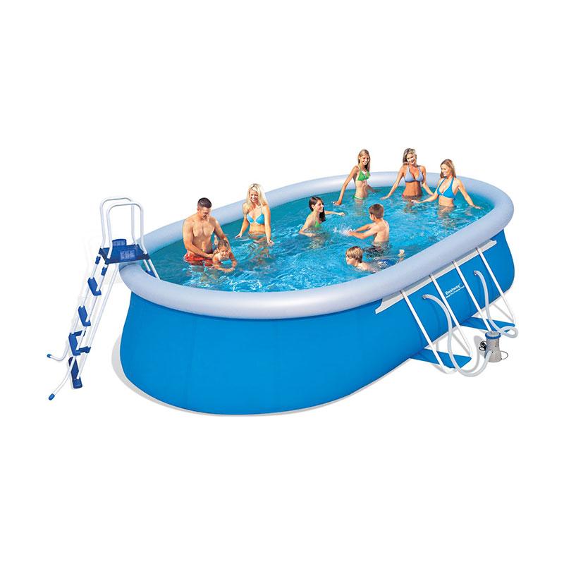 Bestway kit piscine ovale autoportante 549 x 366 x h122 for Accessoire pour piscine bestway