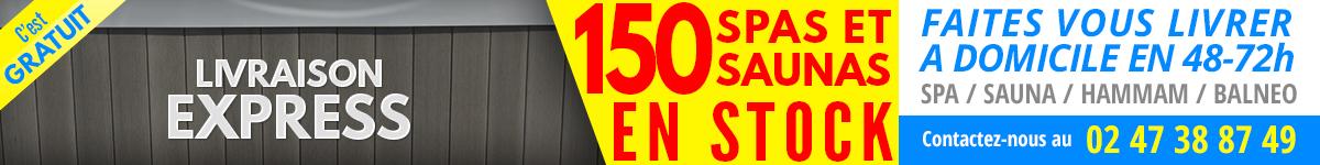 Plus de 150 spas et saunas en stock