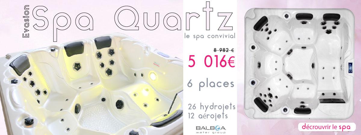Spa quartz 6 places