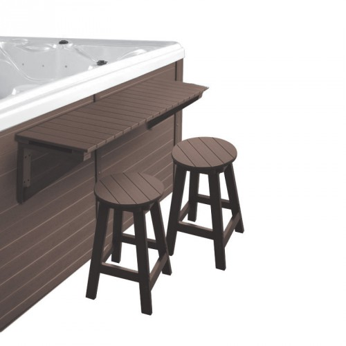 Bar + 2 tabourets pour spa - Spalnéa marron