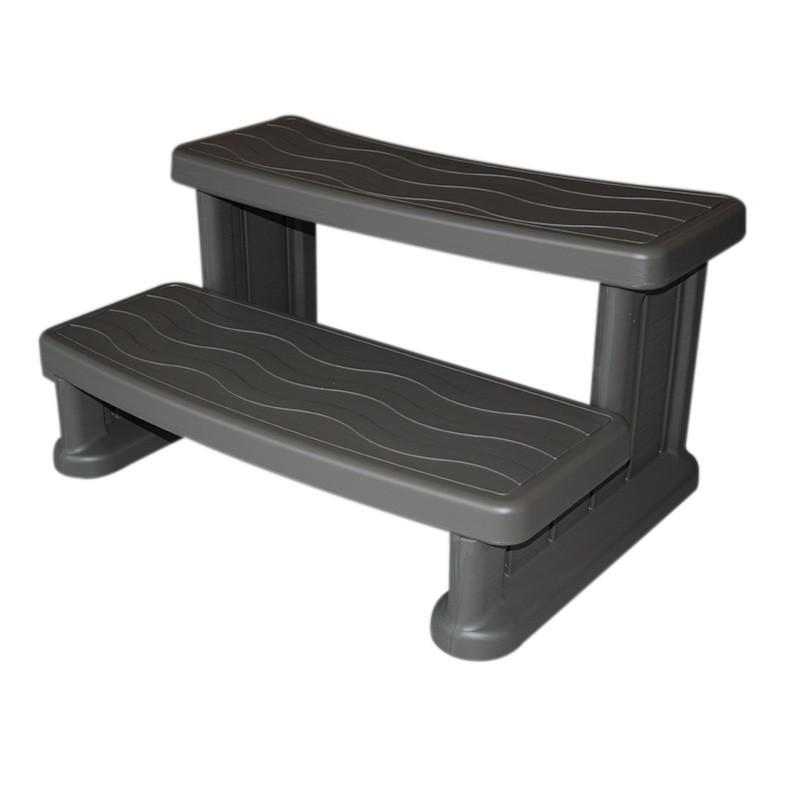 marche d 39 acc s pour spa warm grey escalier jacuzzi. Black Bedroom Furniture Sets. Home Design Ideas