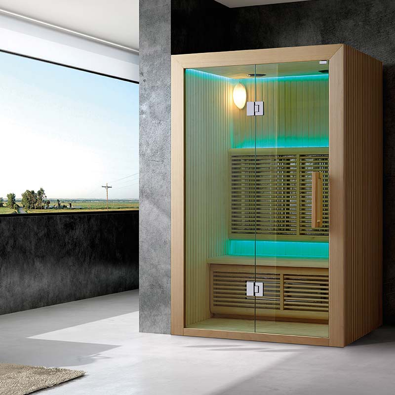 sauna infrarouge hydro 2 3 places bain et confort. Black Bedroom Furniture Sets. Home Design Ideas