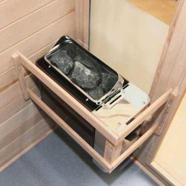 Poêle avec commande intégrée pour sauna