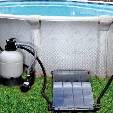 Chauffage solaire d me keops chauffage piscine bain et - Dome piscine hors sol ...