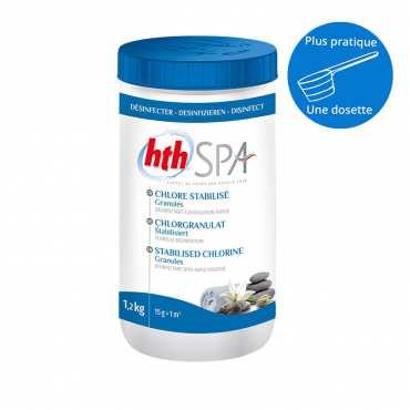 HTH Spa - Chlore stabilisé - Granulés - 1,2kg