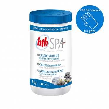 HTH Spa - Chlore stabilisé - Pastilles - 1kg
