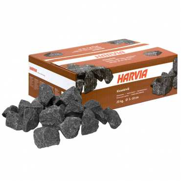 Pierre Volcanique pour sauna - 20kg - Ø jusqu'à 10 cm - Harvia