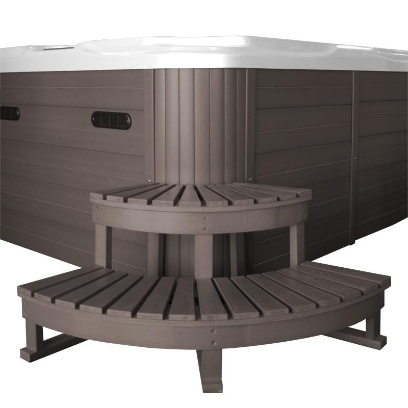 escalier d 39 angle 2 marches pour spa jacuzzi. Black Bedroom Furniture Sets. Home Design Ideas