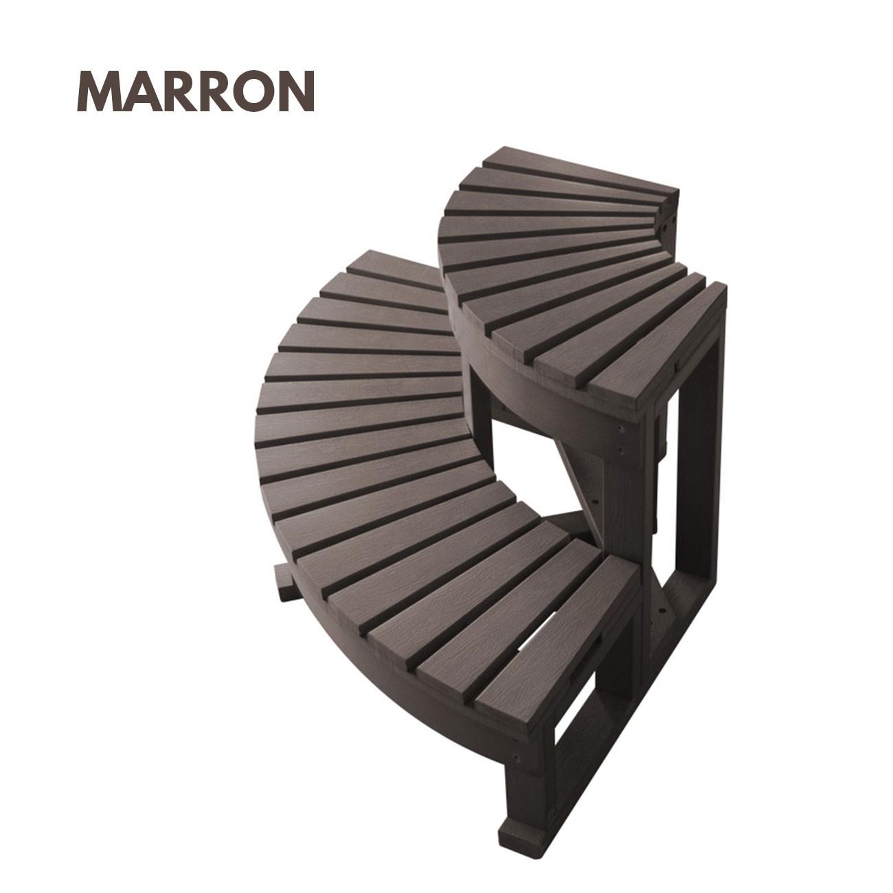 escalier d 39 angle 2 marches pour spa jacuzzi bain et. Black Bedroom Furniture Sets. Home Design Ideas