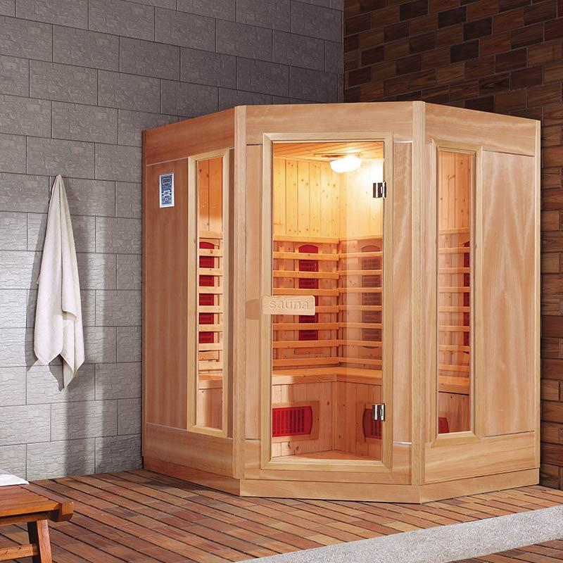 Sauna infrarouge ethis 3 4 places bain et confort - Sauna exterieur finlandais bois ...
