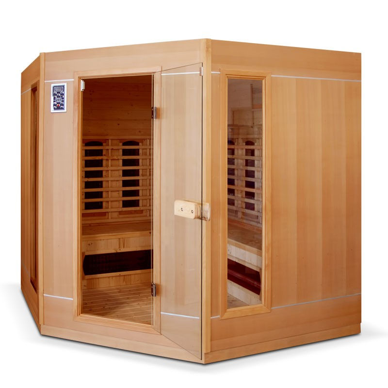 Sauna infrarouge ethis grande 4 5 places bain et confort - Sauna infrarouge utilisation ...