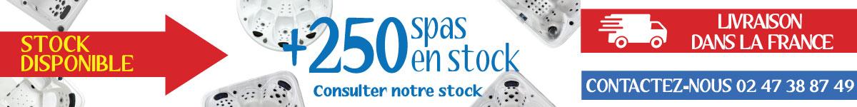 Plus de 250 spas et saunas en stock